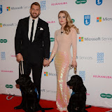 WWW.ENTSIMAGES.COM -    Chris Robshaw and Camilla Kerslake    at       Guide Dog of the Year Awards at London Hilton Park Lane London December 10th 2014Annual awards which celebrate the partnership between guide dogs and their owners.                                              Photo Mobis Photos/OIC 0203 174 1069