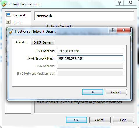 host only network adapter virtualbox