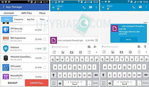 BBM tak hanya dijadikan sebagai alat berkomunikasi chat  Cara Kirim Aplikasi Android Lewat BBM