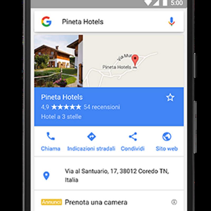 Google My Business ti mette in contatto con i clienti che ti cercano su Google, Maps o Google+.