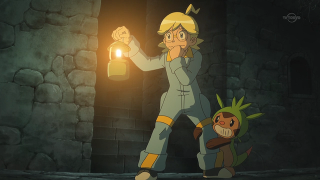 chespin and clemont are scared