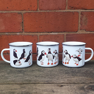 Puffin mug by Alice Draws The Line.co.uk