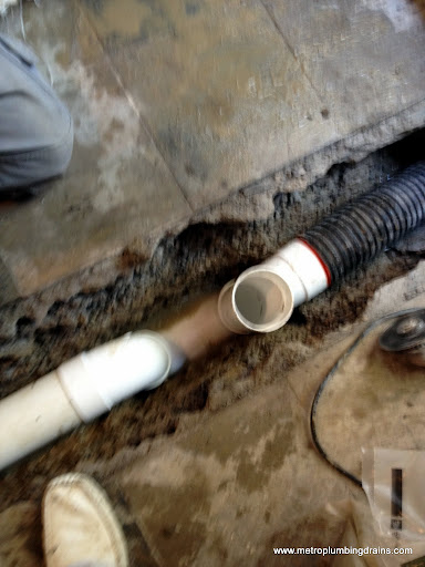 "Replace 4"" PVC Drain Pipe"
