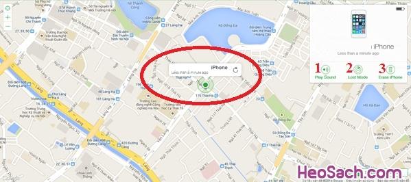 Hình 7 - Cách tìm điện thoại iPhone bị mất với Find My iPhone