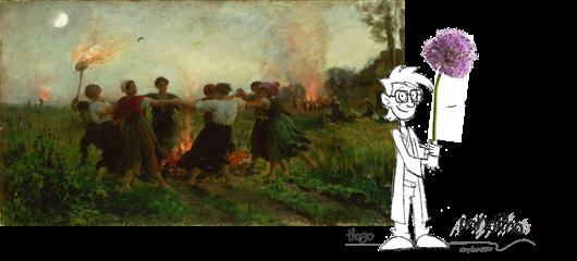 Jules Breton - La Fête de la Saint-Jean - 1875 (Musée des Beaux-Arts de Philadelphie)