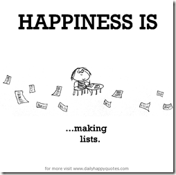 Lists happiness