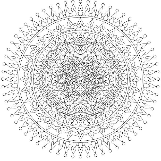 Moon Heart  Beautiful Free Mandala Coloring Page You Can Print At Home