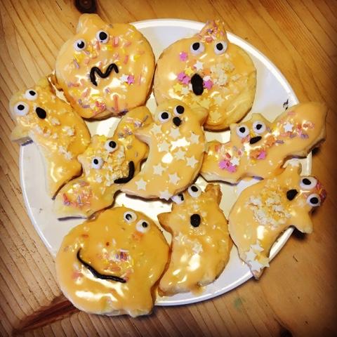 Spooky halloween biscuits