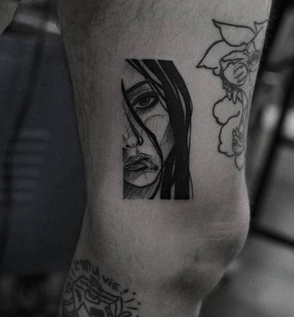 este_esboço_estilo_retrato