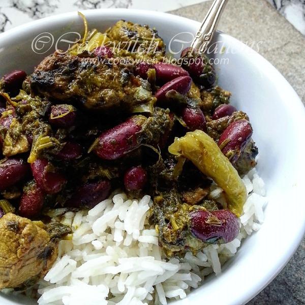 Khoresh e Ghormeh Sabzi with rice