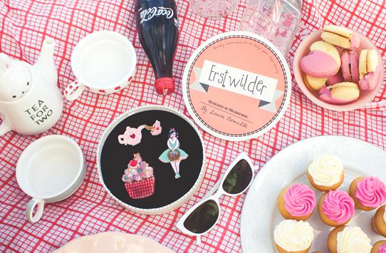 Erstwilder Pinup Picnic Novelty & Kitsch Brooches | Lavender & Twill