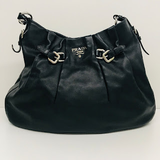 Prada Calfskin Buckle Hobo Bag