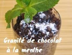 recette du Granité de chocolat à la menthe