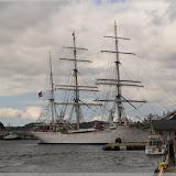 Segelschift im Hafen von Bergen