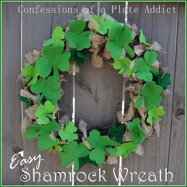 CONFESSIONS OF A PLATE ADDICT Easy Shamrock Wreath