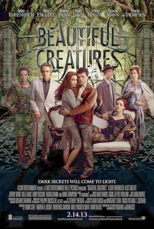 Poster Of English Movie Beautiful Creatures (2013) Free Download Full New Hollywood Movie Watch Online At Alldownloads4u.Com