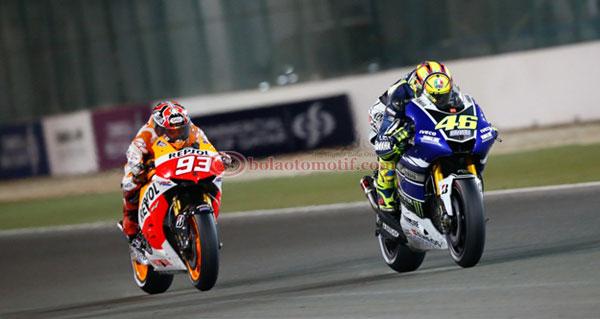 Rossi Marquez, Losail Qatar