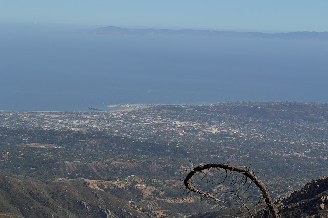 Santa Barbara Harbor and Santa Barbara below