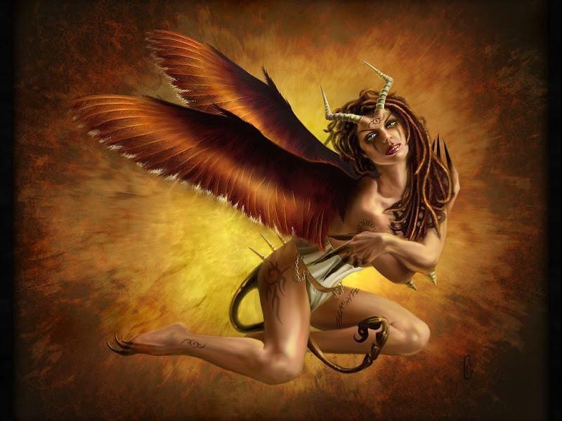 Dark Angel Demoness Fantasy Girl, Demonesses