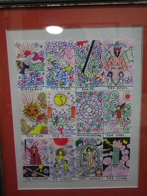 tarot / 伊藤 洋子 デザイン・直筆の、タロットカード 12枚 - 伊藤洋子の美術