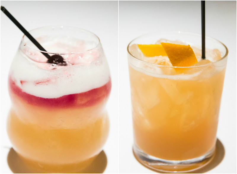photo collage of two cocktails