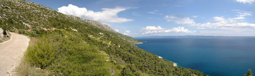 Küstensträßchen zwischen Podobuče und Potočne