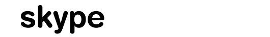 Helvetica Rounded font logo Skype