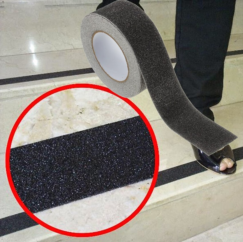 Flooring Non Slip Stair Treads Black Safety Anti Skid Tape