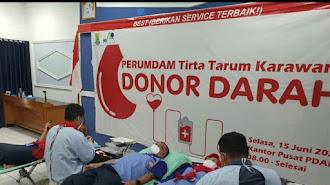 Perumdam Karawang Gelar Kegiatan Donor Darah