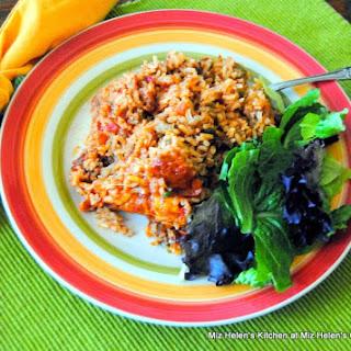 Spanish Rice Casserole.