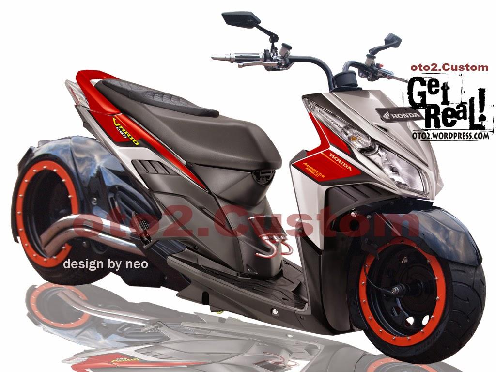 Honda Vario Modifikasi Velg 17