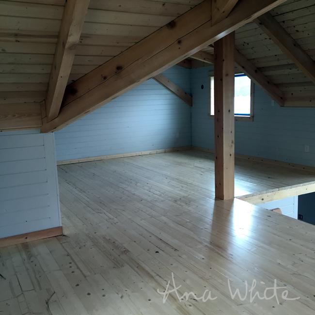 DIY Loft Floor Wood Ceiling For Our Alaska Lake Cabin