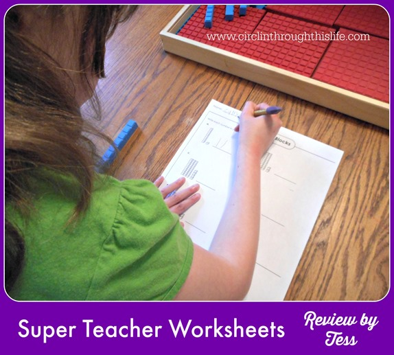 Super Teacher Worksheets ~ a solution to my dilema! Review by Tess at Circling Through This Life
