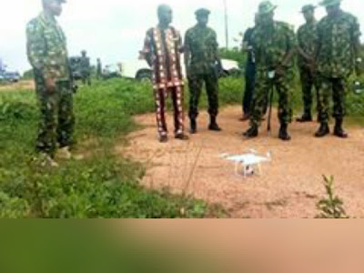 Worldwide Shame !!! As Nigerian Army Acquires Toy Drone To Fight Kidnapping, Banditry And Bokoharam.