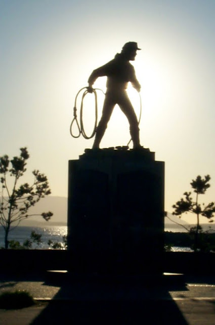 Zuanich Park in downtown Bellingham has a statue that is dedicated to the lost fishermen, that have never returned home.Credit: Lea Hutchison