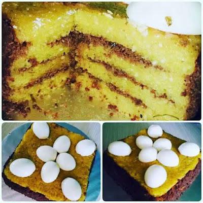 Kek Pulut Kuning Serunding daging Homemade