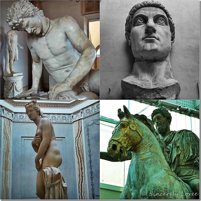 Ancient sculptures at the Capitoline Museums