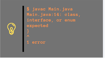 """How to fix """"class, interface, or enum expected"""" error in Java? Example"""