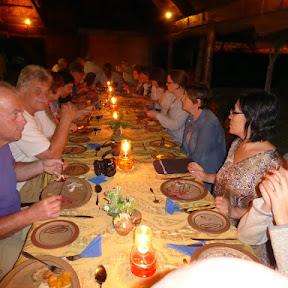 Avondeten in N'Kwazi River Lodge, Rundu