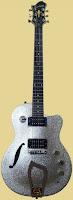 Hagstrom D2F silver sparkle Guitar