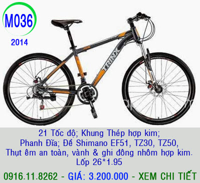 XE ĐẠP THỂ THAO, xe dap the thao, xe dap trinx, xe đạp thể thao chính hãng, xe dap asama,  M036 2014