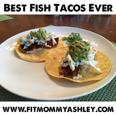 best fish tacos ever, clean eating, healthy, tilapia, easy, recipes, dinner, fresh, yummy, slaw, guacamole, lime, chili, tortilla, mexican, 21 day fix