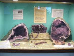 Photo: Amethyst Display by Bruce Hurley at the 2013 Panorama Gem and Mineral Show