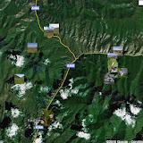 Localisation des sites autour de la Dolon Pass : au  nord, le col du  Dolon (3100 m), à l'est la vallée de Kichi-Kara-Kuchur et, au sud, Kara Unkur