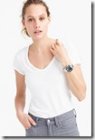 J Crew vintage slub cotton v neck t-shirt