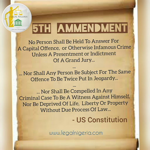 the us fifth amendment and it s slight attribute application in