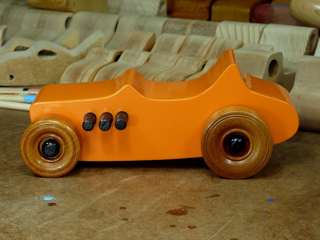 Handmade Wood Toy Car Hot Rod Freaky 1927 Ford T-Bucket Toymakers Shop Photos