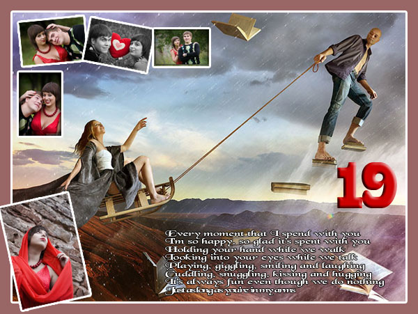 Handmade Photo Collage Ideas For 19th Birthday Girlfriend Gift
