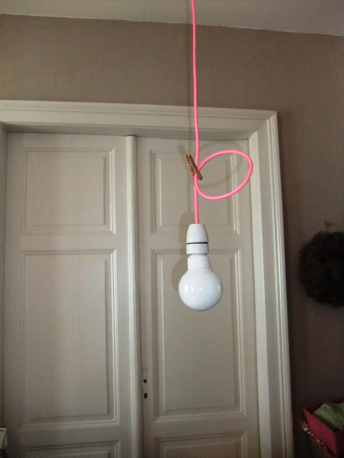 fadensinn textilkabel lampen basteln. Black Bedroom Furniture Sets. Home Design Ideas