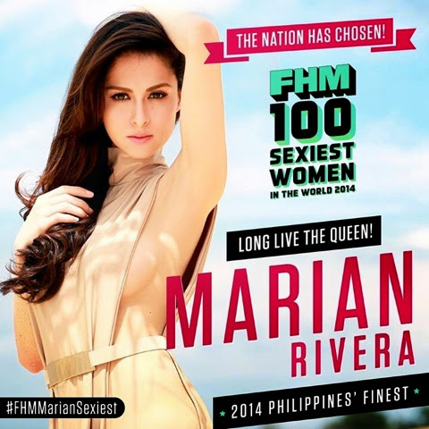 Marian Rivera is FHM Philippines Sexiest Woman of 2014
